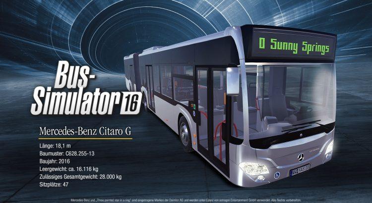 Bild von Bus Simulator 16 Mercedes-Benz Citaro DLC