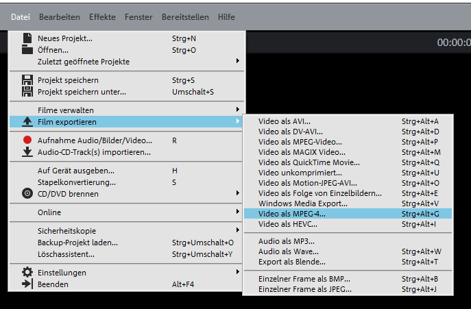 Screenshot von Magix Video Deluxe