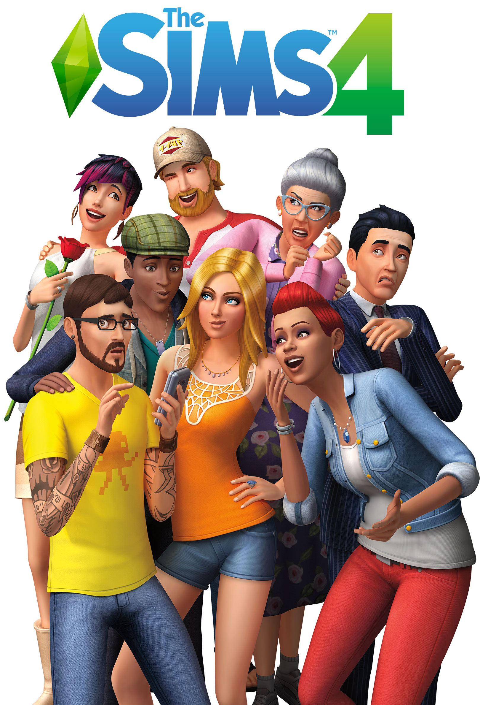 Keyart von Die Sims 4 Konsole
